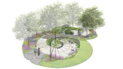 Cancer Research UK Legacy Garden at Hampton Court 2020