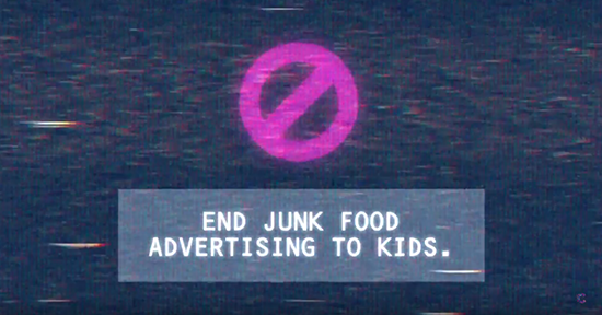 End junk food advertising for kids youtube video