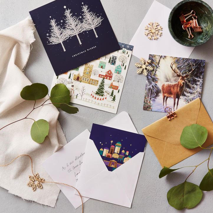 A selection of traditional design Christmas cards