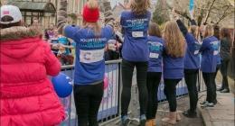Volunteer cheering