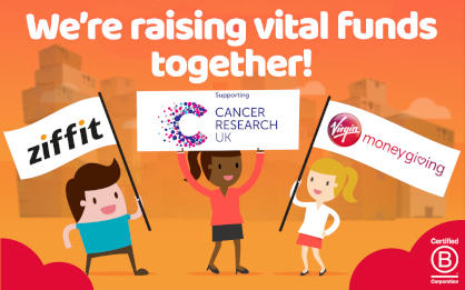 Ziffit and Virgin Money Giving are supporting Cancer Research UK