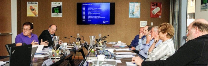 The Advisory Panel meet to set the challenges. (Ed Cervantes-Watson)