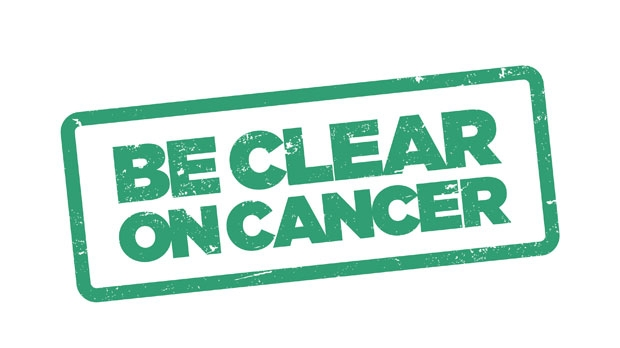 Be Clear on Cancer logo for lung cancer campaign