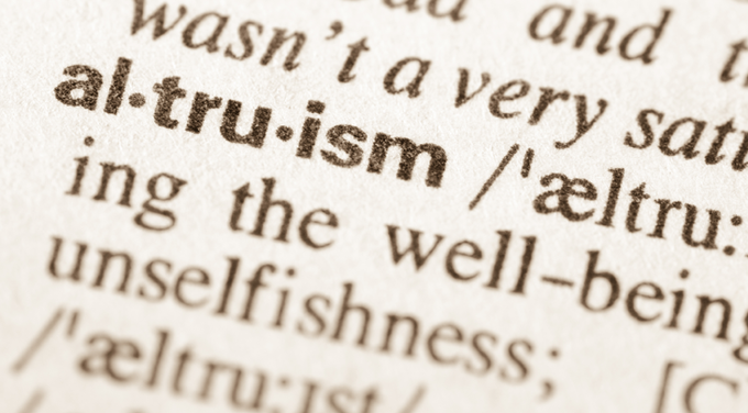 dictionary definition of altruism