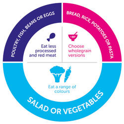 Graphic outlining healthy diet