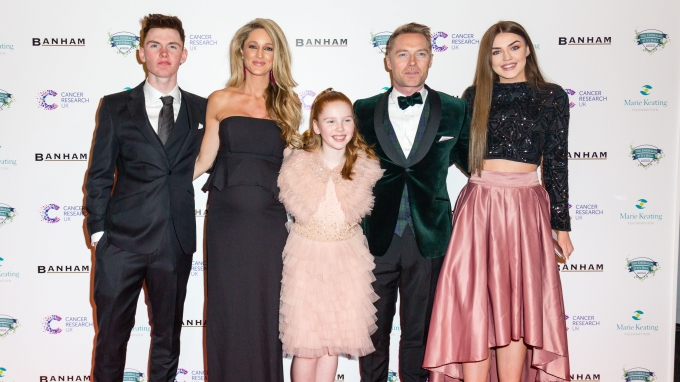 Cancer Research UK's Emeralds & Ivy Ball 2017, Ronan and Storm Keating, Marie Keating Foundation