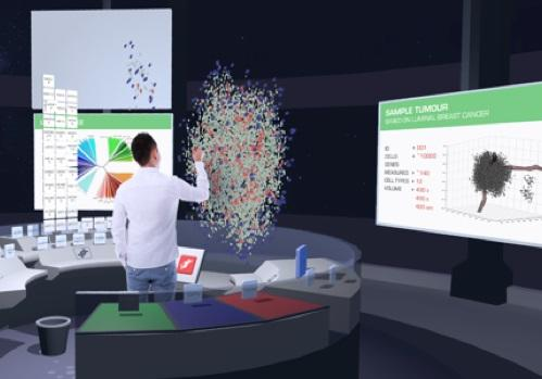 Creating virtual reality maps of tumours