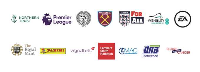 Bobby Moore fund partner logos