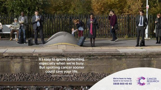 Spot cancer sooner, train platform news story