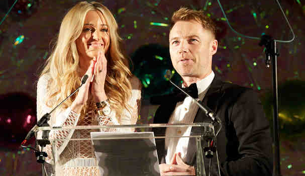 Ronan and Storm Keating at the Emeralds and Ivy Ball