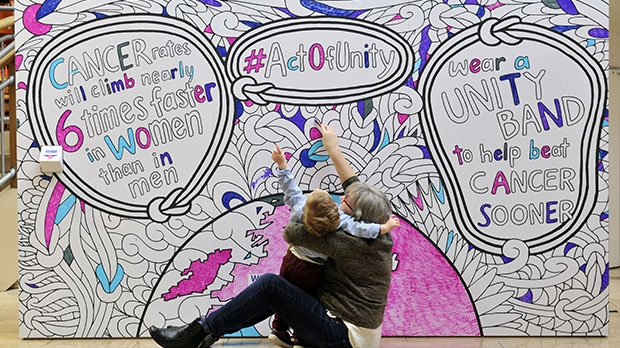 World Cancer Day Unity Wall