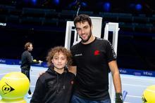 ATP World No 8 Matteo Berrettini surprises young tennis star and cancer survivor, Darwin Hutchinson