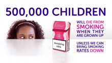 500,000 children will die as adult smokers for press release.