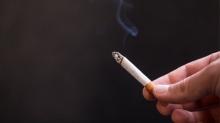 Cigarette in a person's hand