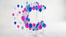 [Hero image: CRUK logo made from balloons]