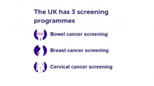 UK's three cancer screening programmes