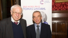 Dr Tomas Lindahl and Professor Nic Jones
