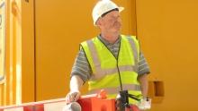 Builder at work