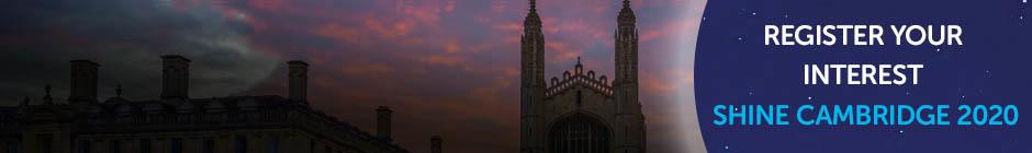 Shine Cambridge skyline. Register your interest for Shine Cambridge 2020.