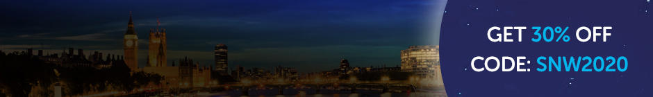 Shine London skyline. Get 30% off 2020 entry using code SNW2020