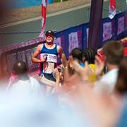 CRUK Triathlete taking on an Outlaw Event