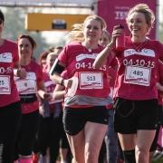 Women running Race for Life Half Marathon
