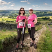 Two women at Race for Life Hiking event