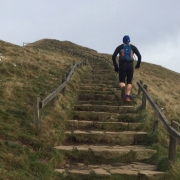 Man running in the Peak District