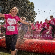 Woman doing Race for Life Pretty Muddy