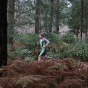 Man running in Sherwood Pines