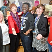 Volunteers in a Cancer Research UK shop