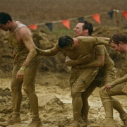 Runners in the mud