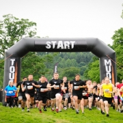 Mudders at the start line