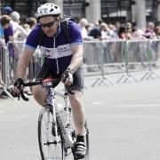 Cyclist cycling