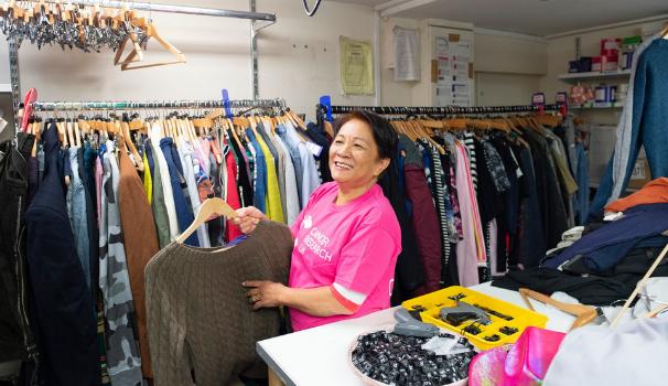 Shop Volunteer at till