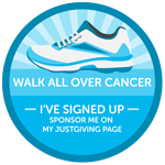 Walk All Over Cancer badge
