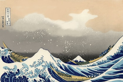 Two Thirds of Hokusai's Wave