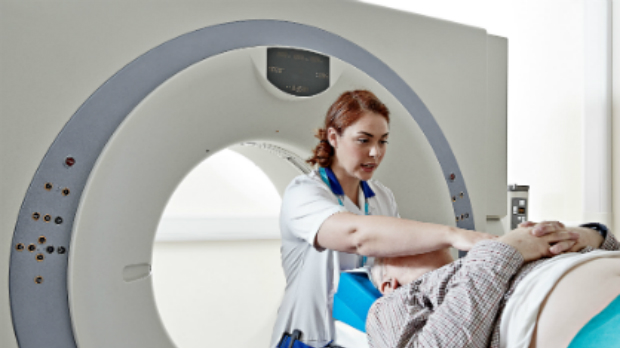 Diagnostic Workforce Campaign - nurse setting up MRI scan