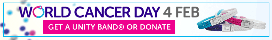 World Cancer Day - Get a Unity Band® or donate